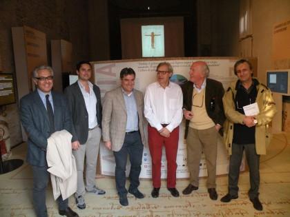 """Vittorio Sgarbi alla mostra """"Perfecto e virtuale, l'Uomo Vitruviano di Leonardo"""""""