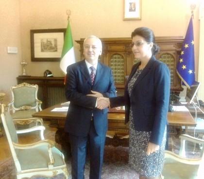 II Prefetto Visconti riceve l'Ambasciatore della Repubblica di Moldova