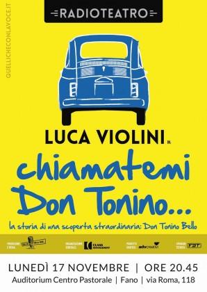 Conferenza spettacolo su Don Tonino Bello: lunedì al Centro Pastorale Diocesano