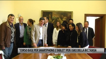 """""""Corso base per smartphone e tablet"""" per i soci della BCC Suasa – VIDEO"""