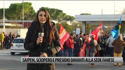 Saipem, sciopero di due ore con presidio e corteo davanti alla sede fanese – VIDEO