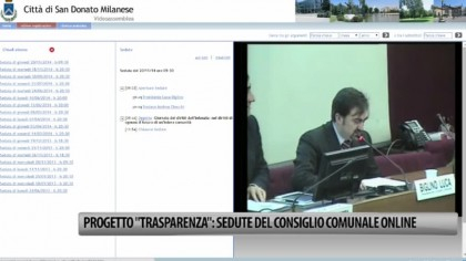 """Progetto """"Trasparenza"""": sedute del Consiglio comunale in diretta streaming – VIDEO"""