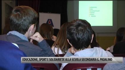 Educazione, sport e solidarietà alla scuola secondaria G. Padalino – VIDEO