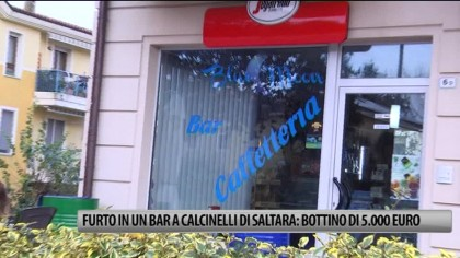 Furto in un bar a Calcinelli: bottino di 5.000 euro – VIDEO
