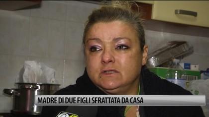 Madre di due figli sfrattata da casa – VIDEO