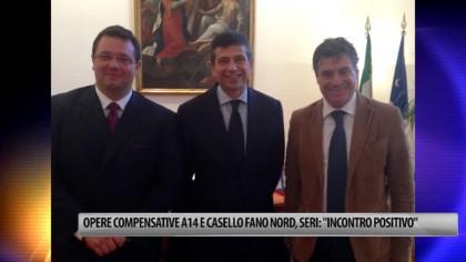 """Opere compensative A14 e casello Fano nord, Seri: """"Incontro positivo a Roma"""" – VIDEO"""