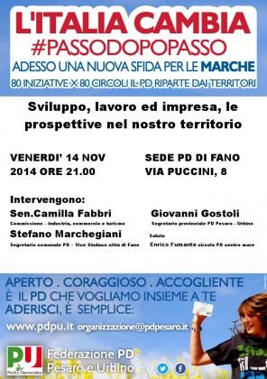 Lavoro e sviluppo: venerdì 14 incontro pubblico con Sen. Fabbri e Segretari PD Gostoli e Marchegiani