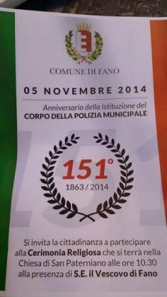 151° dell'Istituzione del Corpo della Polizia Municipale. S.Messa nella Basilica di S.Paterniano – VIDEO