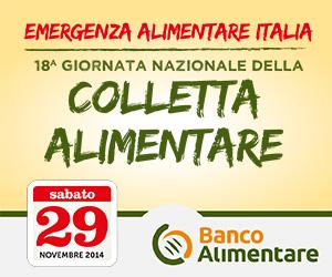 29 novembre, 18esima Giornata Nazionale della Colletta Alimentare