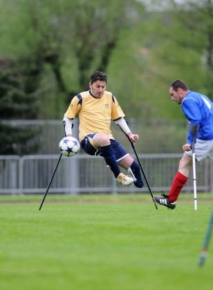Il pesarese Riccardo Tondi  alla Coppa del mondo di calcio amputati
