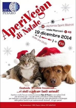 """""""Aperivegan Benefit"""" di Natale: un aperitivo in difesa degli animali"""