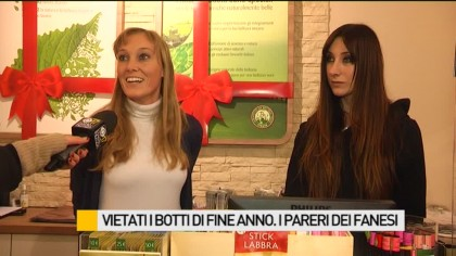Vietati i botti di fine anno. I pareri dei fanesi – VIDEO