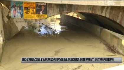 Rio Crinaccio, l'Assessore Marco Paolini assicura interventi in tempi brevi – VIDEO