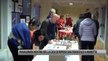 Inaugurata la mostra nella casa di riposo a San Francesco a Marotta – VIDEO
