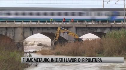 Fiume Metauro, iniziati i lavori di ripulitura – VIDEO