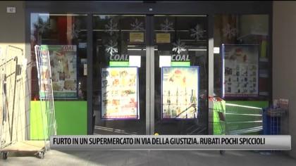 Furto in un supermercato in Via Della Giustizia. Rubato il fondo cassa – VIDEO