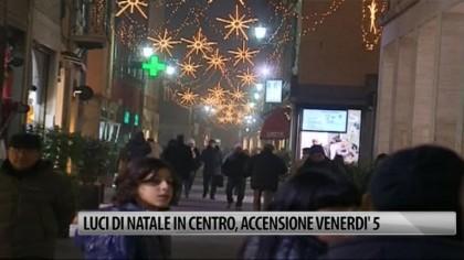 Luci di Natale in centro, accensione venerdì 5 dicembre – VIDEO