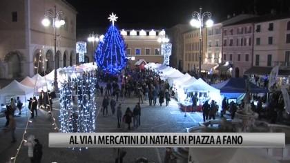 Al via i mercatini di Natale in Piazza XX Settembre a Fano – VIDEO
