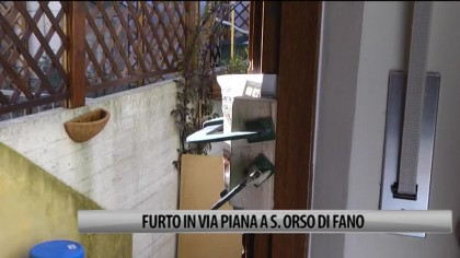 Furto in via Piana a Sant' Orso di Fano – VIDEO
