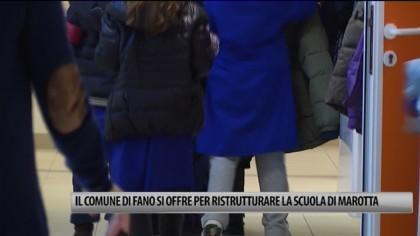 Il Comune di Fano si offre per ristrutturare la scuola di Marotta – VIDEO