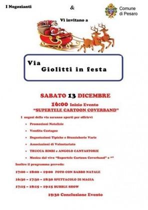 """""""Il Natale dei bambini"""": Via Giolitti in festa a Pesaro"""