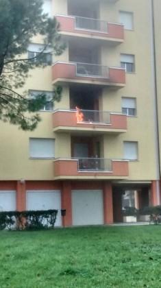 A fuoco un appartamento a San Lazzaro (Fano)
