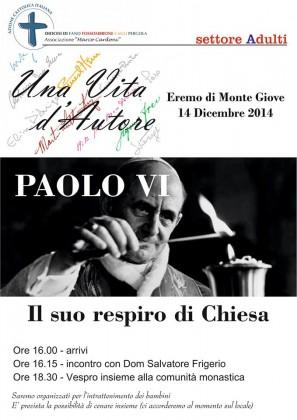 """""""Una vita d'autore… Paolo VI"""": all'Eremo di Montegiove per ricordare la figura di Montini"""