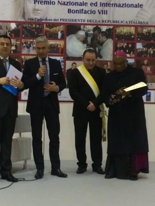 """Conferito al Questore Antonio Lauriola il Premio Nazionale """"Bonifacio VIII"""""""