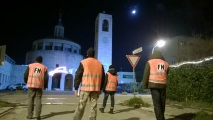 Il freddo non ferma Forza Nuova, continuano le passeggiate per la sicurezza a Fano