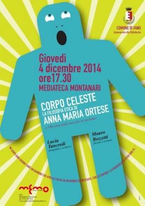 """""""Corpo celeste. La filosofia etica di Anna Maria Ortese"""": ore 17.30 alla Mediateca Montanari"""