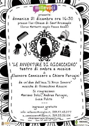 """""""Le avventure di Gioacchino"""" teatro di ombre e musica, domenica pomeriggio all'ex Chiesa di Sant'Arcangelo"""