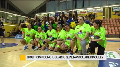 I politici vincono il quarto Quadrangolare di Volley – VIDEO