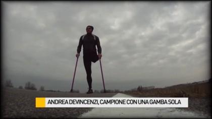 Andrea Devicenzi, campione con una gamba sola – VIDEO