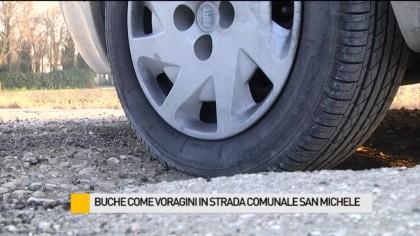 Buche come voragini in Strada Comunale San Michele – VIDEO