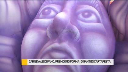Carnevale di Fano, prendono forma i giganti di cartapesta – VIDEO
