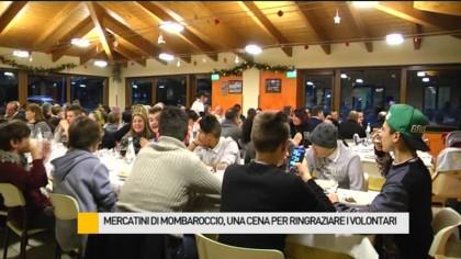 Mercatini di Mombaroccio, la Proloco ringrazia con una cena tutti i suoi volontari – VIDEO