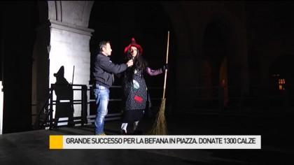 Grande successo per la Befana in Piazza. Donate 1300 calze ai bambini – VIDEO