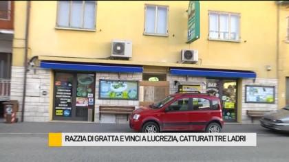 Razzia di gratta e vinci a Lucrezia di Cartoceto, arrestati tre ladri – VIDEO