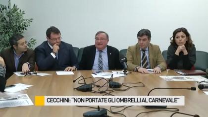 """Cecchini: """"Non portate gli ombrelli al Carnevale"""" – VIDEO"""