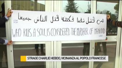 Strage Charlie Hebdo, esposta bandiera francese a mezz'asta in Comune a Fano – VIDEO
