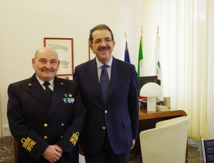 """Incontro con l'Ammiraglio Talarico, Solazzi: """"Importante collaborazione"""""""