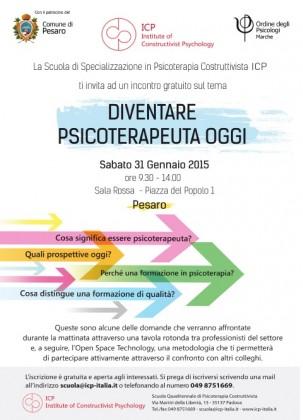 """""""Diventare psicoterapeuta oggi"""", a Pesaro un convegno della Scuola di Psicoterapia Costruttivista di Padova"""