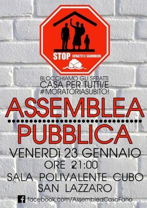 Moratoria per il blocco degli sfratti, venerdì assemblea pubblica a San Lazzaro