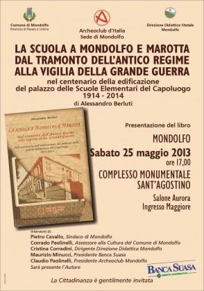"""Presentazione del libro """"dall'asilo infantile alla scuola materna a Marotta e Mondolfo"""""""