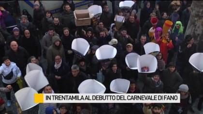 In trentamila al debutto del Carnevale di Fano – VIDEO