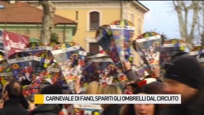 Carnevale di Fano, spariti gli ombrelli dal circuito – VIDEO