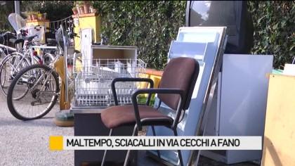 Maltempo, sciacalli in via Cecchi a Fano – VIDEO
