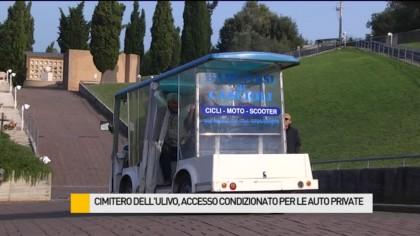 Cimitero dell'Ulivo, il sindaco non revoca le autorizzazioni per entrare con l'auto – VIDEO