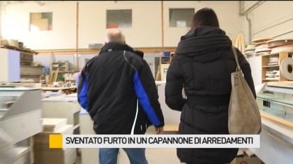 Sventato furto in un capannone di arredamenti – VIDEO