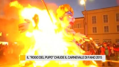 """Il """"Rogo del Pupo"""" ha chiuso l'edizione 2015 del Carnevale di Fano – VIDEO"""